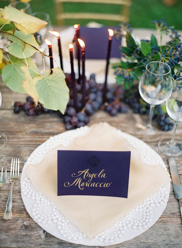 different take on a black and white wedding #wedding #placecard