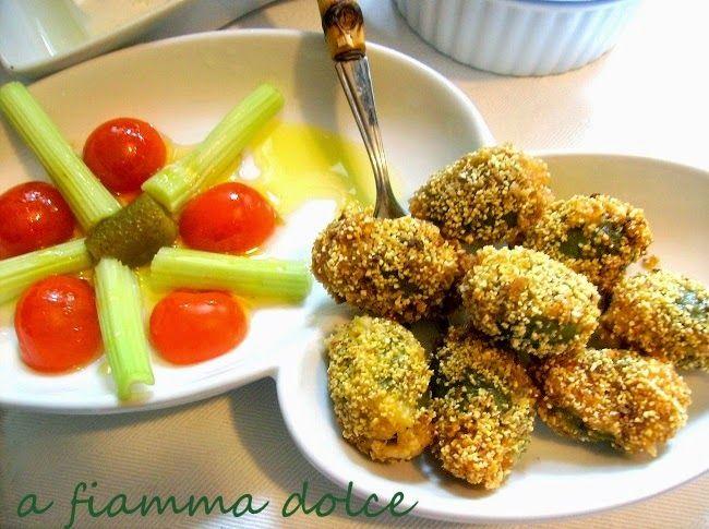 A fiamma Dolce: Olive all'ascolana vegan