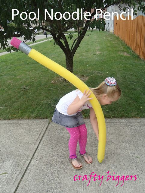 Crafty Biggers: Pool Noodle Pencil (that writes!)
