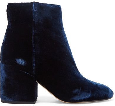 Bought FW16 // Sam Edelman Taye Velvet Ankle Boots in Navy which is really kind of a midnight blue. Really comfy, can't wait to wear them!