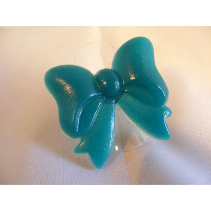 $7 Oversized Teal Bow Ring by PrettyAwesomeDesigns on Handmade Australia