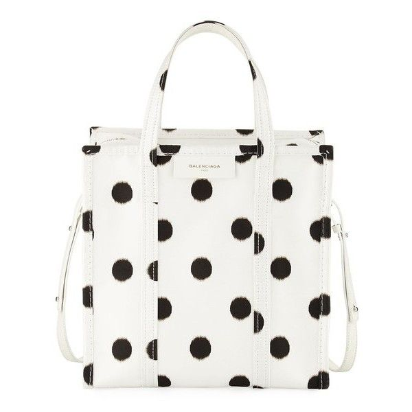 23d93bccac Balenciaga Bazar Shopper Small Aj Polka Dot Tote Bag ( 1