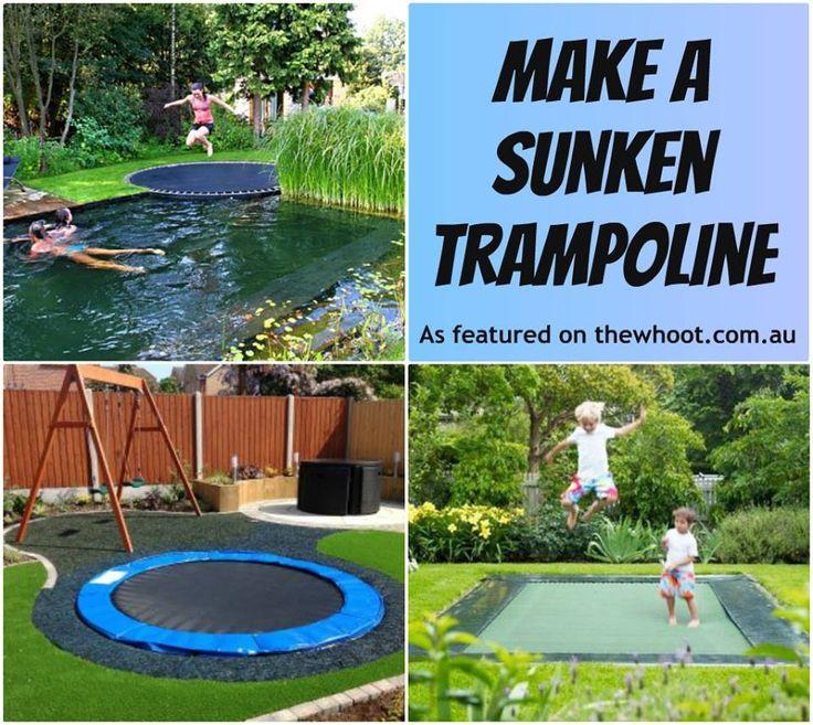 30 Best Sunken Trampolines Images On Pinterest