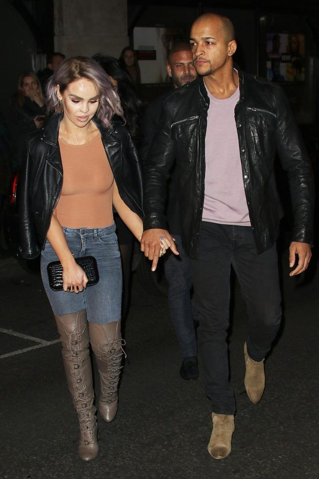 KATIE Piper has publicly debuted her brand new purple hair do' during date night with husband Richard Sutton.