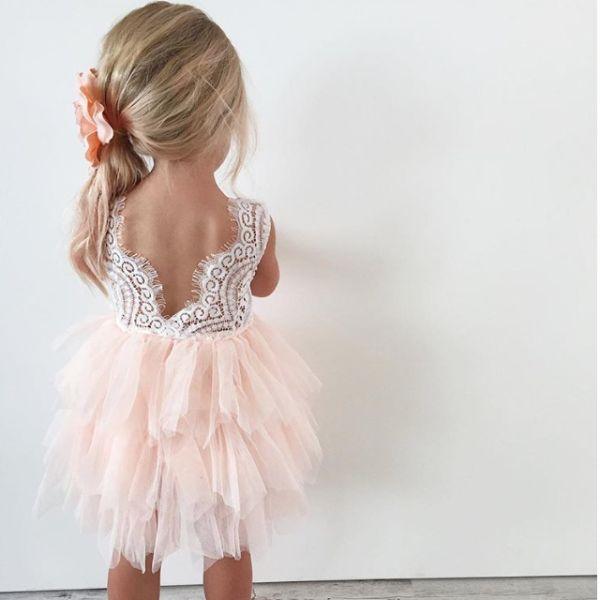 """The Alicia"" Flower Girl Dress (Pink) - BACKORDERED"