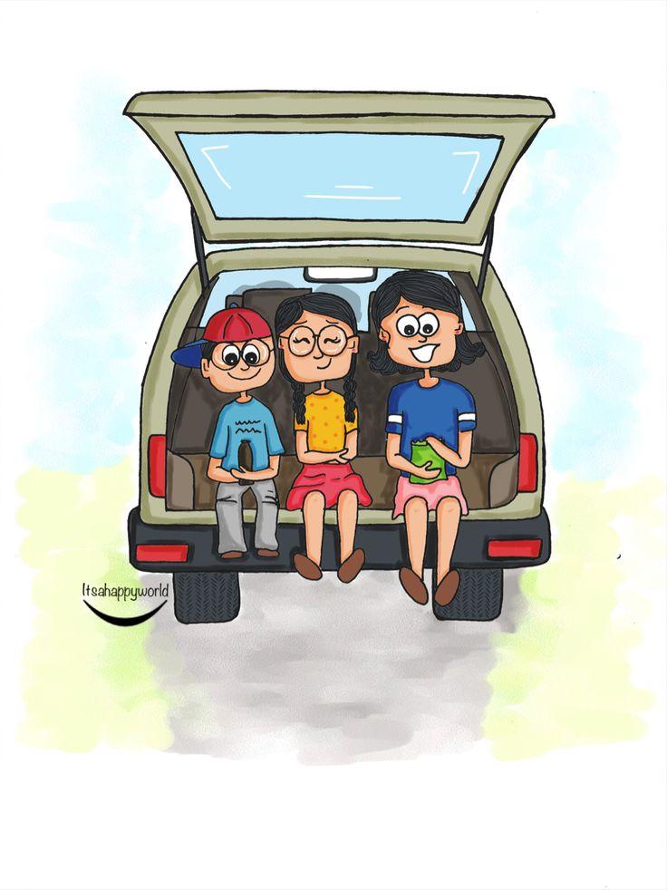 Nostalgia  #raodtrips #travel #kids #characterdesign