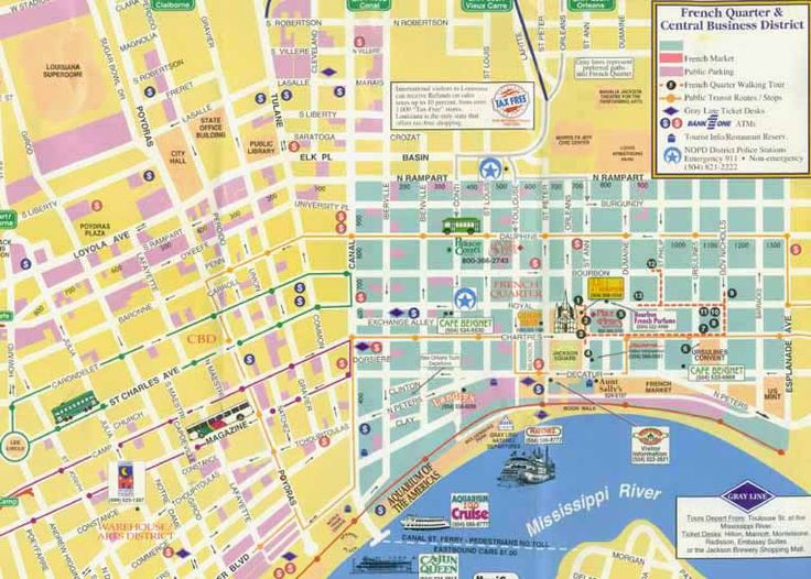 25 best ideas about french quarter map on pinterest - Parking garden district new orleans ...