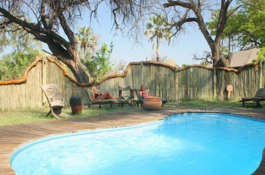 Pool Area at Pom Pom Camp (Okavango Delta, Botswana)  http://www.pompomcamp.com/