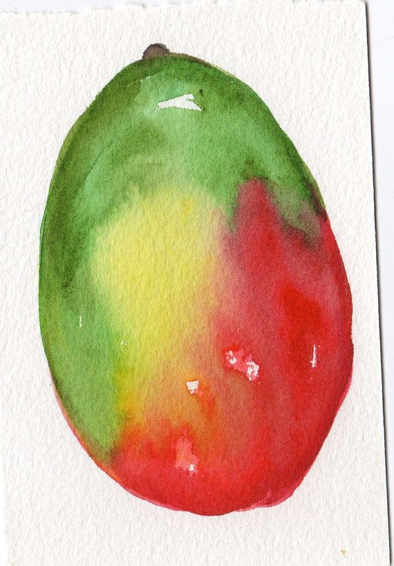 11 Best Mango Art Images On Pinterest Watercolor Fruit
