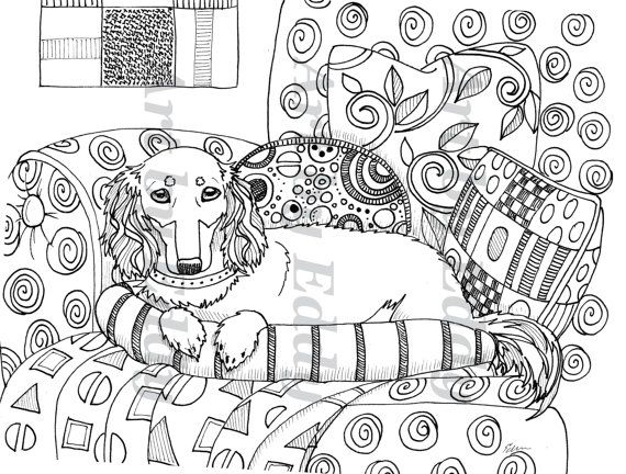 dachshund puppies coloring pages - photo#27