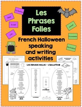 french halloween speaking and writing activities. Black Bedroom Furniture Sets. Home Design Ideas