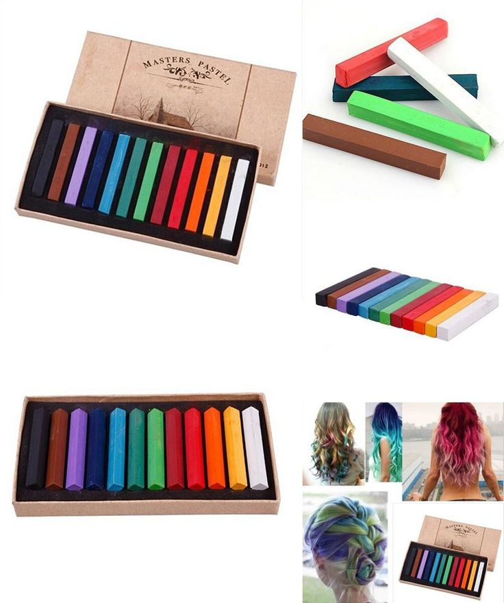 [Visit to Buy] Hot 12 Colors Fast Temporary Pastel Hair DIY Salon Painting Extension Dye Chalk #Advertisement