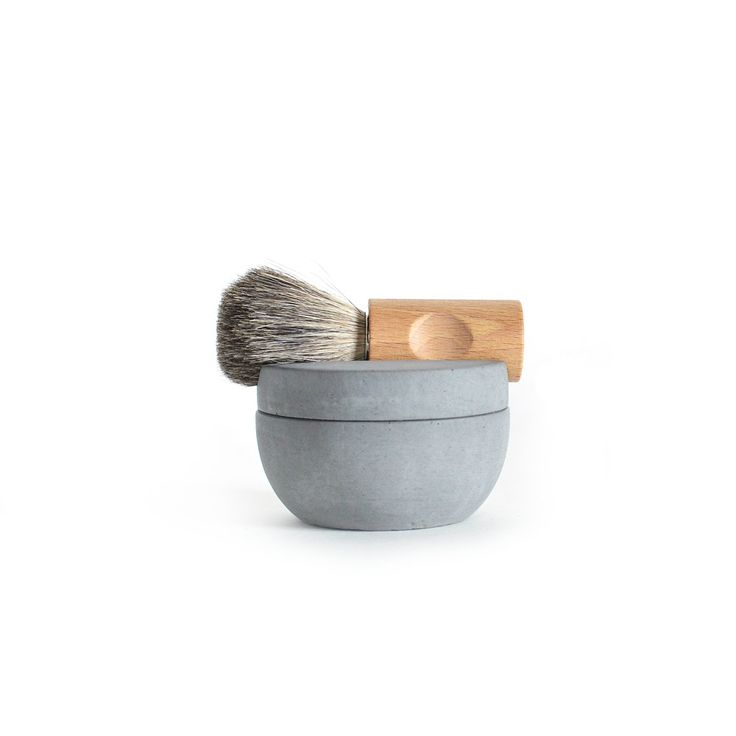 Concrete shaving set: Shaving brush and shaving cup including soap, for a dapper dad #giftsforhim