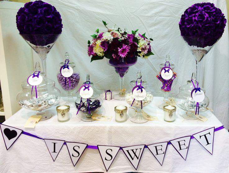 Purple lolly buffet To enquire: events@weddingwonderland.com.au
