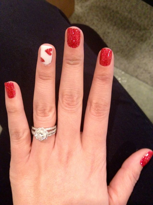 Nicole Valentine nails #valentine #red #love