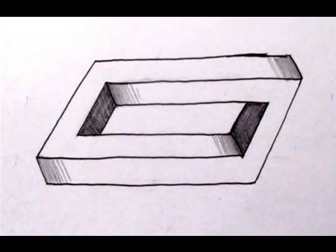 how to draw the impossible penrose rectangle cool optical illusion for the boy pinterest. Black Bedroom Furniture Sets. Home Design Ideas