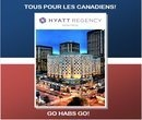 Le Hyatt Regency Montréal fête la saison de hockey 2013. Courez la chance de gagner 2 billets pour le match du Canadiens au Centre Bell avec une nuitée au Hyatt Regency Montréal le 20 avril 2013. Le match opposera les Canadiens contre les Capitals de Washington.