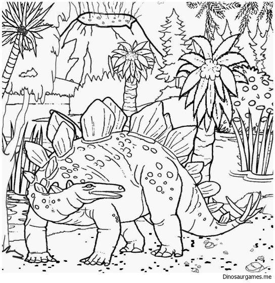 Stegosaurus 3 Coloring Page   Dinosaur coloring pages ...