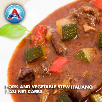 Pork and vegetable stew italiano recipe stew the o for Atkins cuisine baking mix