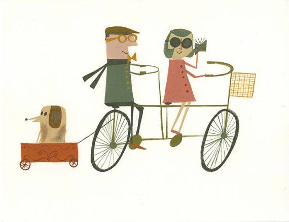 Taking a ride.  Limited edition 8.5 x 11 print by Matte Stephens. on Etsy, $35.0…