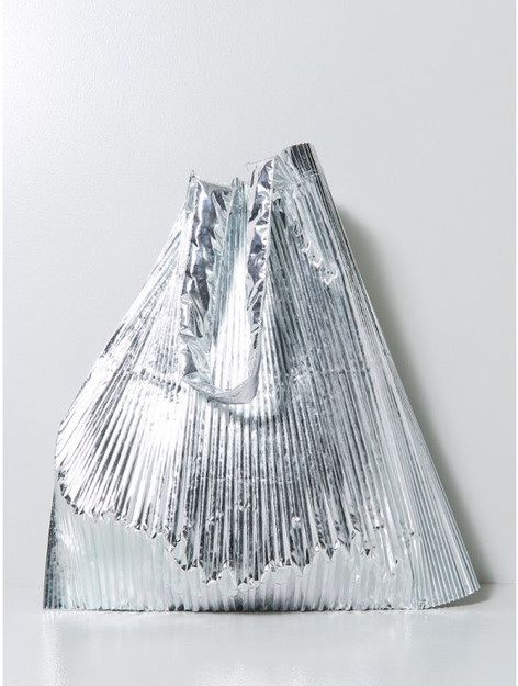 Silver Metallic Bag//