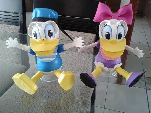 Como fazer o Pato Donald em eva 3D, pato donald en foami,goma eva,microporoso - YouTube