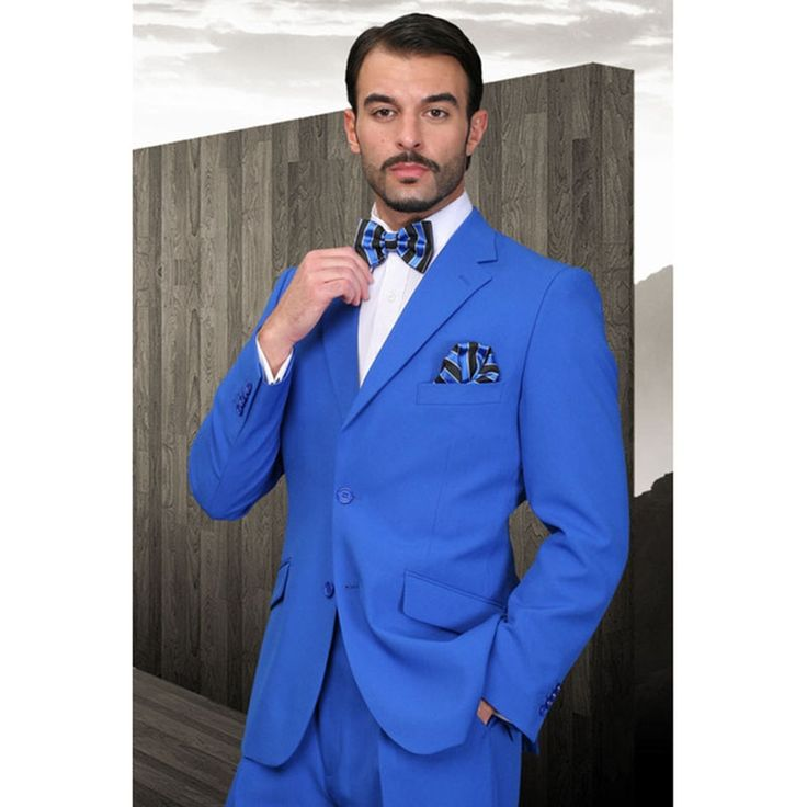 High quality custom formal dress Mens Suit best man two pieces terno masculino (jackets+pants) royal blue men wedding suits 2017