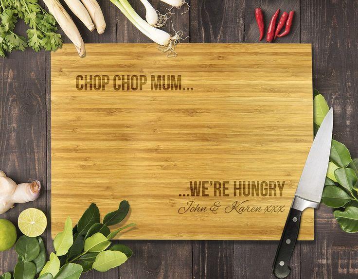 """Chop Chop Mum Bamboo Cutting Board 12x16"""""""