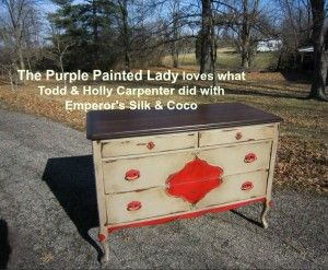 Emperors Silk & Coco ...The Purple Painted Lady loves what Todd & Holly Carpenter did