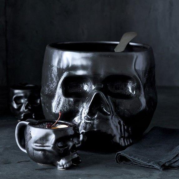Halloween Skull Punch Bowl | Williams-Sonoma