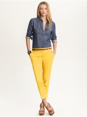 Women's Apparel: outfits we love | Banana Republic: Bright Trousers, Work Clothing, Shirts Bananas, Boats Shoes, Color, Republic Work, Outfit, Denim Shirts, Bananas Republic