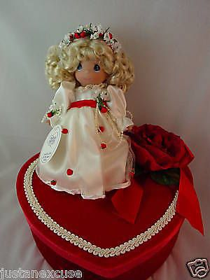 """Love You with all my Heart Shaped Box 7"""" Vinyl Doll Precious Moments Blonde 3368 #PreciousMoments #Dolls"""