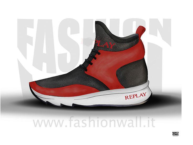 Replay Tubular woman H24 shoe by ALBERTOSCANFERLA. Check it out on Desall.