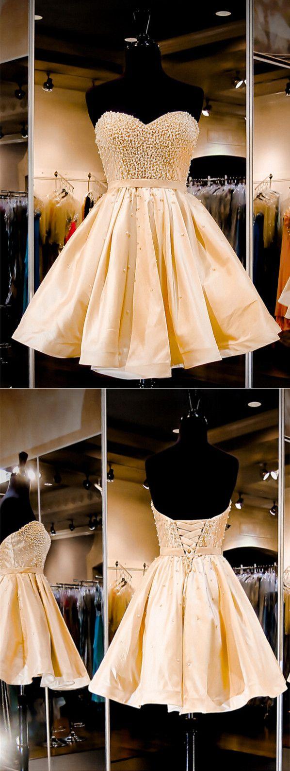2016 homecoming dresses,homecoming dresses,short prom dresses,cheap champagne homecoming dresses,sweetheart homecoming dresses,exquisite homecoming dresses,sparkle homecoming dresses
