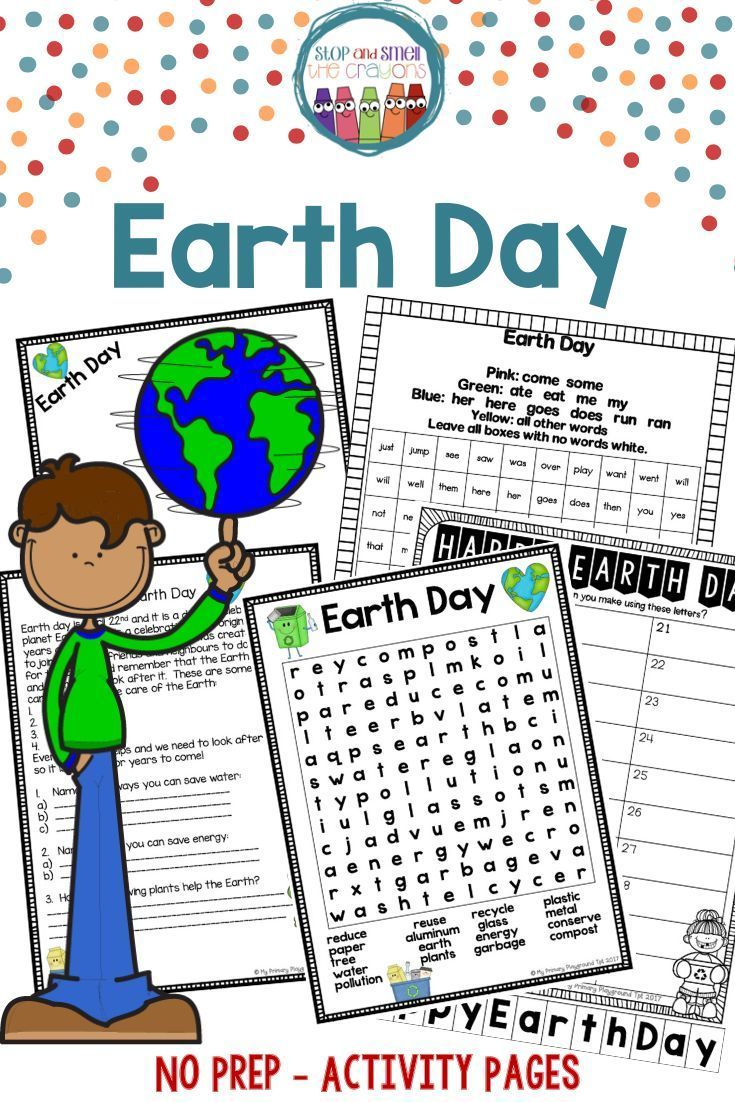 Earth Day Worksheets Earth Day Activities Activities