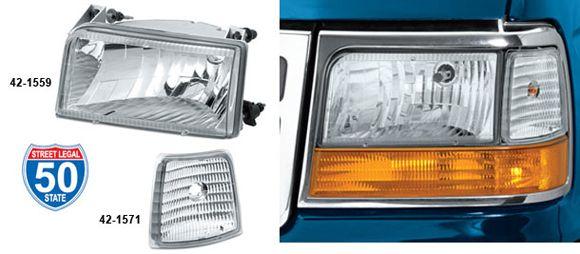 Custom Headlight Set and Sidemarker Set