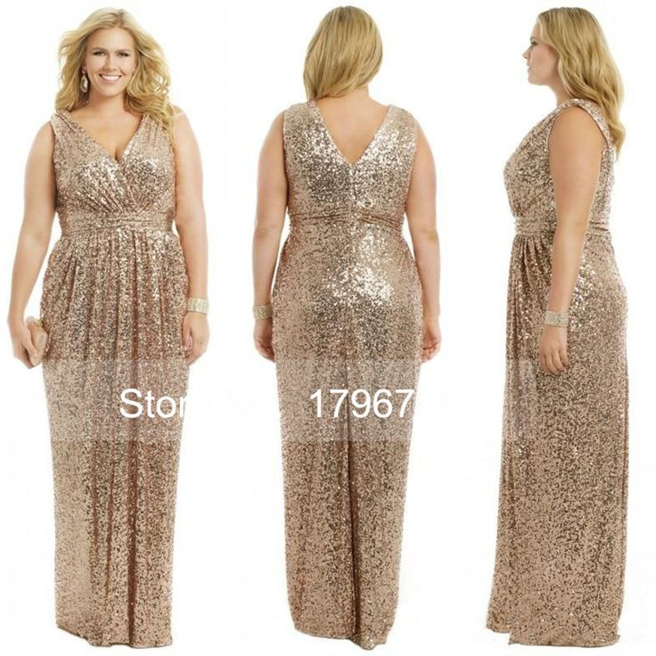 Cheap dress right dress, Buy Quality dress edge directly from China dresse Suppliers: 2016 Floor Length V Back Rhinestones Gold Bling Long Bridesmaid Dresses Sparkly V Neck A Line Gold Sequins Bridesmaid Dr
