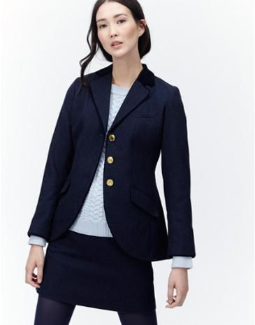 A real twist on a classic, Joules single breasted tweed jacket.