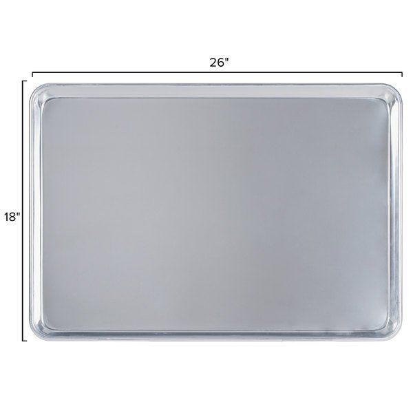 Baker S Mark Full Size 19 Gauge 18 X 26 Wire In Rim Aluminum Bun Pan Sheet Pan In 2020 Sheet Pan Pan Full Size Sheets