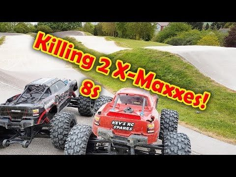 Killing 2 8S Traxxas X-Maxx at EPIC BMX Track ***HUGE AiR*** - YouTube