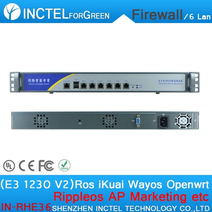 565.80$  Know more  - Customized Internet router manufacturers ROS 6 Gigabit flow control fortigate firewall with E3 1230 V2 processor H61 Express