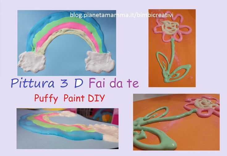 Pittura 3D fai da te - Puffy Paint DIY