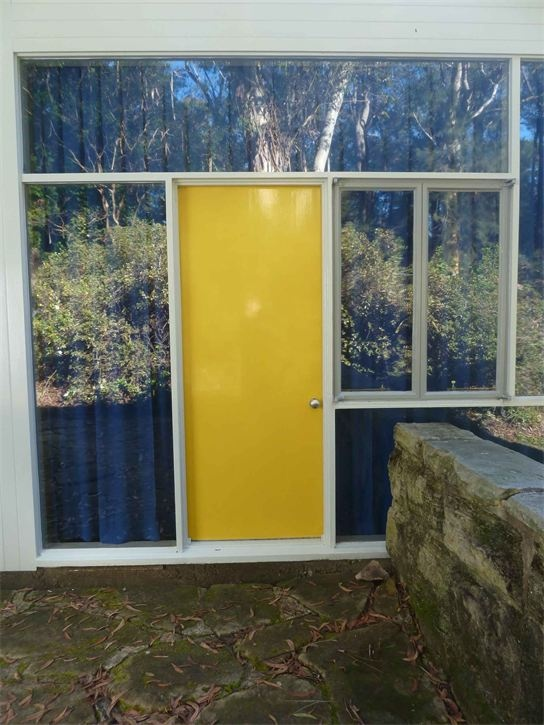 The outstanding feature of rose seidler house is that it for Domestic front doors