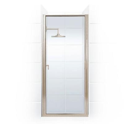 Coastal Shower Doors Paragon Series 24 in. x 65 in. Framed Continuous Hinged Shower Door in Brushed Nickel with Clear Glass-P24.66N-C - The Home Depot
