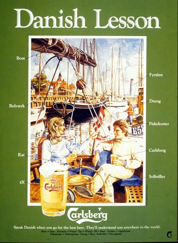 Danish Lesson, Carlsberg, Canada, 1970s. Take some French lessons ;) at Fransk Affære in Copenhagen (31Oct.-3Nov. 2013). More information on Facebook!