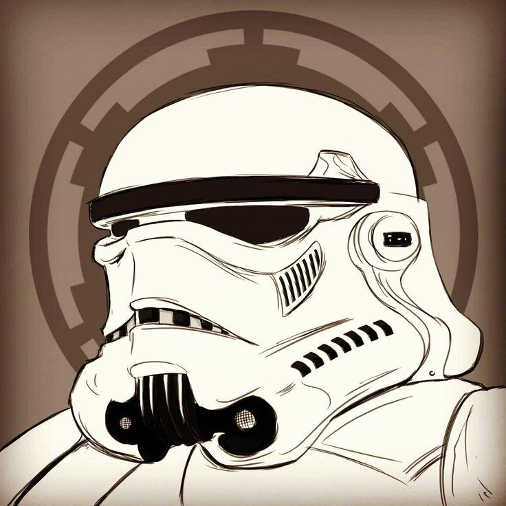 Stormtrooper saturday sketch #starwars #starscountdown19 #TheForceAwakens #stormtrooper #sketch