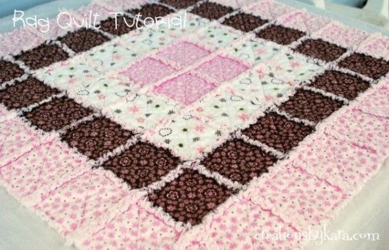"""I have made this rag quilt several times now (it is adorable) and modified it just a bit.  Instead of 4 squares in the middle I do 9, and the added as needed.  The final quilt comes out 9 x 9 then.   I always forget how many squares I will need. This tutorial helps with that. Per pattern: 64 - 5"""" squares total.  That's 28 in outer border, 20, 12, and 4 working your way inside.  Per my adjustments: 81 total.  32 outer border, 24, 16, and 9.    Count on only 8 - 5"""" squares per 5"""" of fabric…"""