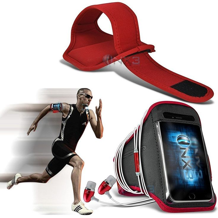 ONX3 Kodak Ektra Case (Red) Case Cover Adjustable Fitness Running Jogging Cycling Gym Armband Holder, Including In Ear Aluminium Earphones. Strong sticky back tape: We use the strong sticky back tape to make sure the armband do not fall off when you are exercising. The crystal clear protective film is soft, sensitive, so you can touch and control your cell phone when you take exercises, and it can also keep your screen away from scratches. Cool and Comfortable: Lightweight, flexible…