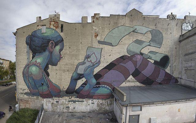 Lodz - Poland. Unknown street artist.