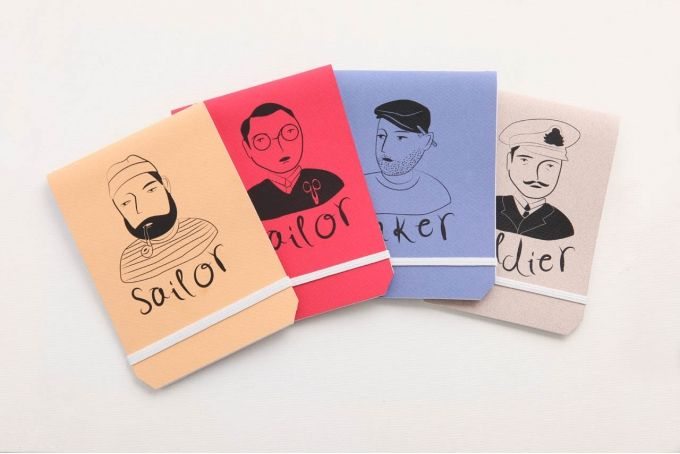 Tinker Tailor Soldier Sailor Notebooks by Past Present